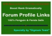 ULTRA DOFOLLOW Manual 100 Authority Forum Profile Lin... for $3