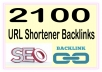Do Over 2100 HQ PR Panda Safe URL Shortener Backlinks To Boost your Ranking