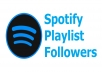 Non drop 100+ real active Spotify Followers or Spotify Playlist Folllowers
