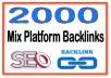 ?Create you 2000 Mix Platform PR6-8 Backlinks