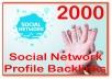 Get you 2000 Social Network Profile PR1-8 Backlinks