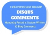 10 Comments On Your Blog Using Disqus Profiles for $5