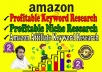 research amazon profitable keywords & product