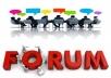 Provide 25 Forum Post backlinks  for $15