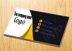Do business card design  with eye catching graphics