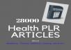28,000 PLR/MRR - Articles 38 -EBooks On Medicine,Heal... for $5