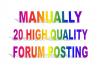 Do Manually General Forum Posting Link
