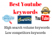Do Youtube keyword research for your Youtube videos