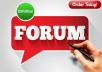 2000 Forum Profiles Backlinks 2 days delivery
