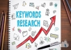 SEO keyword research in 24 hours