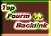 Promote Niche Relevant Forum backlink