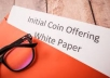 Write A Detailed Whitepaper on ICO Blockchain coins tokens