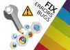 Fix any issue related html, css, js, jquery, php, wor... for $6