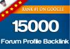 12000 Forum profiles backlinks service for $5