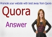 10 Quora Answer with your keyword and URL.And clickable Backlinks.