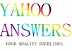 Guaranteed 10 High Quality Yahoo Answers to Promote Your Website
