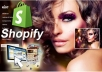 Shopify site  developing for $14