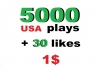 instant +5000 usa soundcloud p/lays and 30 favorites within 5 hour