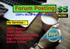 Create 8 Niche Relevant Forum Posting