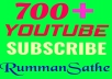 instance 700+ real non drop subscriber  very first from channel delivery  only