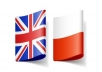 Professional translation from English to Polish for $5
