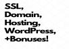 WordPress, SSL, Hosting, & Domain / 1 Full Year for $125