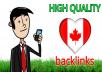 10 Quality forum backlinks Canada for $5