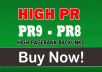RANK Boosting 20 PR9-PR8 High Authority Backlinks [240+ orders completed]