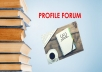 I can do 35 profile forum for your website for $10