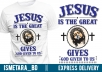 make custom christian tshirt design for $5