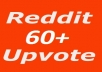 Real World Wide 60  upvote on Reddit post or Comment for $3