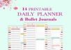 give 14 Printable daily Planners & Bullet Journal... for $5