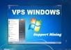RDP vps windows 4 GB RAM, 2 core 60GB SSD for $7