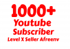 Add Super Fast 1000+ High Quality Youtube Subs.Criber
