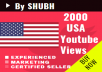 Add 1000 USA Youtube Views for $1
