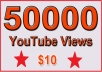 50000 Non Drop YouTube Views for $18