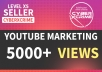 5000 HIGH RETENTION Youtube Views within 72hrs