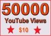 50000 Non Drop YouTube Views for $18