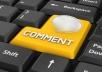 o MANUALLY 50 Highpr Blog Comment 2PR7 4PR6 10PR5 10P... for $15