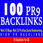 Indexing 100 PR9 backlinks with keyword related articles