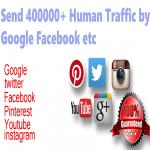 400000+ organic human traffic from google