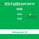 Will write and publish guest post on MINDS with 1 backlink to your website