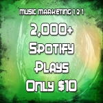 2,000+ / 2000+ / 2k+ SpotifyPlays REAL PLAYS - NO BOTS