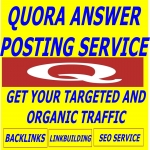 PROVIDE DAILY 100 TRAFFIC FOR ONE MONTH BY 125 QUORA ANSWER WITH CLICKABLE LINK