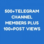 500+Tele gram Chan nel Members Plus 100+P ost Vie ws All are Real & Permanent