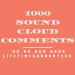 1000 Sound cloud Co mments