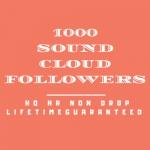 1000 Sound Cloud Follo wers