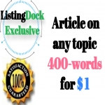 Write Article 400-words on any topic