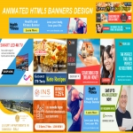Design And Create 3 Animated HTML5 Banners For Google Remarketing