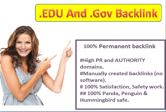 give you 20 EDU&gov backlink only 2$